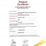 IAAF Product Certificate Zenger