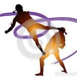 thai-boxing-kick-graphic-martial-arts-sports-top-decorated-line-background-colors-paint-brushes-different-33623802